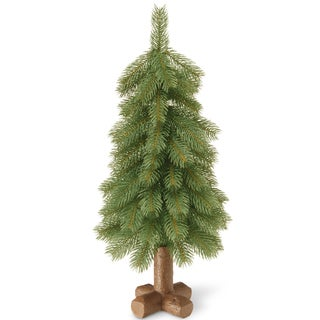 Green 24-inch Bayberry Cedar Tabletop Tree