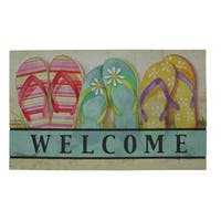 "Mohawk Home Doorscapes Flipflops Inthe Sand Doormat - flipflops in the sand - 1' 6"" x 2' 6"""