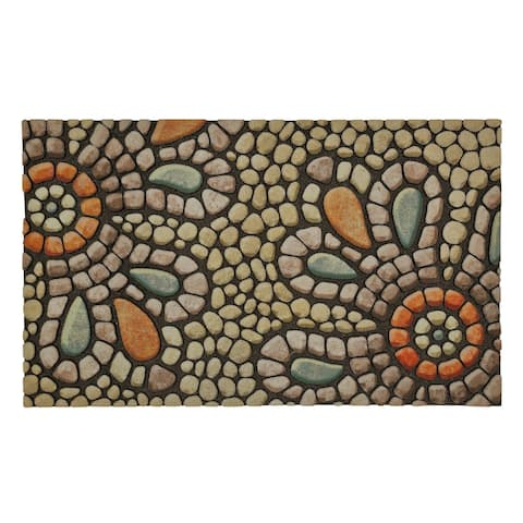 "Mohawk Home Doorscapes Bohemian Pebble Light Mat (1'6 x 2'6) - 1'6"" x 2'6"""