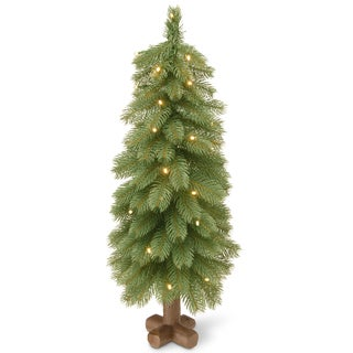 Bayberry Cedar 30-inch Artificial Tree With Battery-operated LED Lights