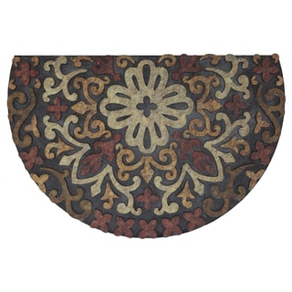 Mohawk Home Doorscapes Estate French Medallion Red Mat (1'11 x 2'11)