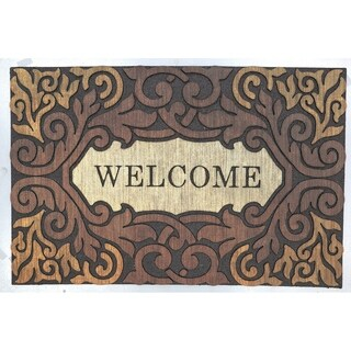 Mohawk Home Doorscapes Estate Scroll Border Welcome Mat (1'11 x 2'11)