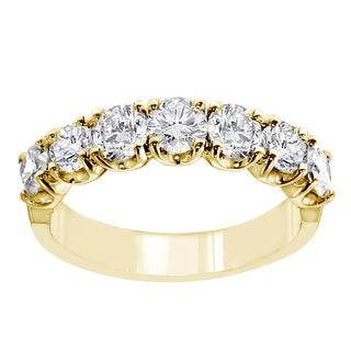 14k/18k Yellow Gold 1 2/5ct TDW 7-stone Diamond Wedding Band (G-H, SI1-SI2)