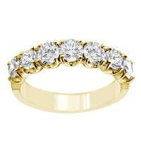14k/18k Yellow Gold 1 2/5ct TDW 7-stone Diamond Wedding Band