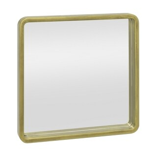 Three Hands Square Wood-framed Wall Mirror