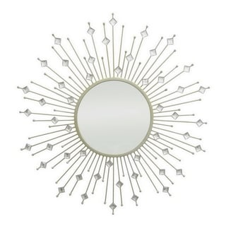 Three Hands Champagne Jeweled Starburst Mirror