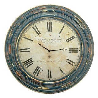 Three Hands Wall Clock With Canal St. Martin Clock Face and Wood Frame|https://ak1.ostkcdn.com/images/products/12831200/P19597655.jpg?_ostk_perf_=percv&impolicy=medium