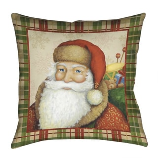 Laural Home Santa Clause Polyester 18-inch Decorative Pillow