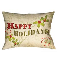 Laural Home Holiday Cheer Polyester 18-inch Decorative Pillow