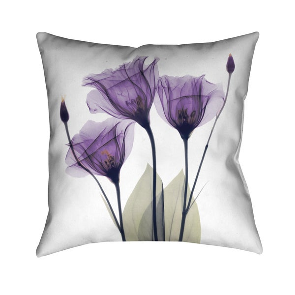 Lilac Floral Throw Pillow : Laural Home Lavender Floral 18-inch Decorative Throw Pillow - Free Shipping Today - Overstock ...