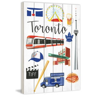 Marmont Hill - 'Travel Toronto' by Molly Rosner Painting Print on White Wood