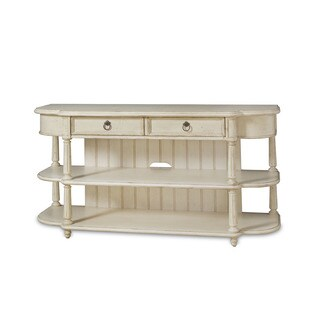 A.R.T. Furniture Provenance Weathered Cream Wood Entertainment Console Table