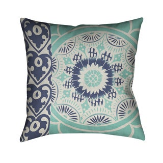 Laural Home Batik Pattern II Blue Polyester 18-inch Decorative Pillow