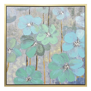 Three Hands Floral Framed Oil Painting