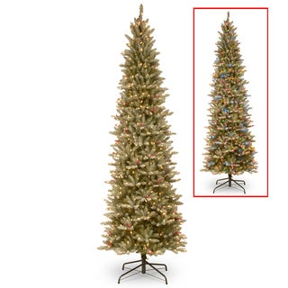 PowerConnect Frosted Mountain Fir 9-foot Slim Artificial Tree with 900 Dual-color LED Lights