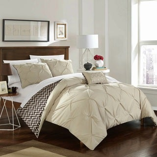 Chic Home 4-Piece Erin Beige Comforter Set