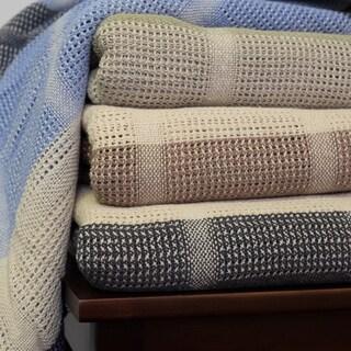100% Cotton All Season Thermal Plaid Blanket