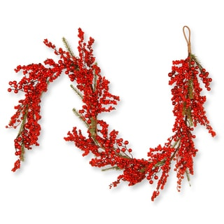 Red 6-foot Berry Decor Garland