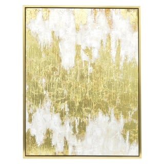 Three Hands Contemporary Framed Gold Oil Painting