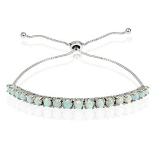 Glitzy Rocks Sterling Silver Created Opal Adjustable Slider Bracelet|https://ak1.ostkcdn.com/images/products/12831399/P19598281.jpg?impolicy=medium