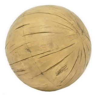 Three Hands Distressed Brown Wood Tone Resin Ball
