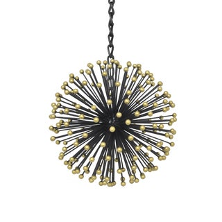 Three Hands 17573 Metal Starburst Orb Black 9.50-inch Hanging Ornament