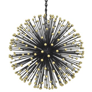 Three Hands 17572 Black Metal 13-inch Starburst Orb Hanging Ornament