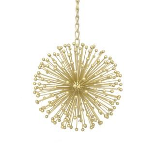 Three Hands 17571 Gold Metal 9.50-inch Starburst Orb Hanging Ornament