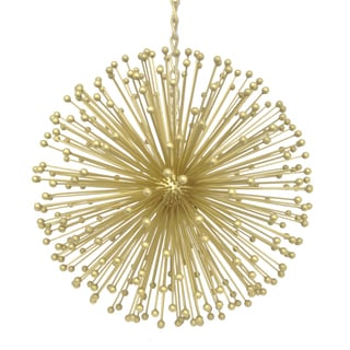 Three Hands Gold-tone Metal Starburst Hanging Ornament