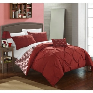 Chic Home 8-Piece Erin Bed-In-A-Bag Brick Comforter Set