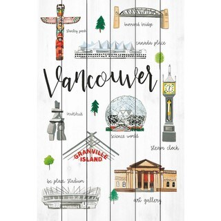 Marmont Hill - Handmade Vancouver Life Painting Print on White Wood
