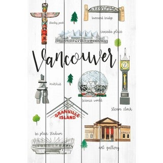 Marmont Hill - 'Vancouver Life' by Molly Rosner Painting Print on White Wood