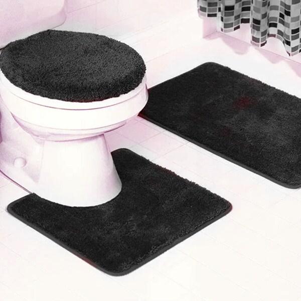 3-piece Frieze Bathroom Rug set - 18 x 30