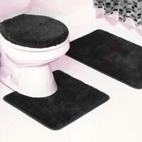 3 Piece Frieze Bathroom Rug Set 18 X 30