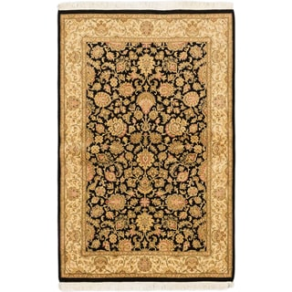 eCarpetGallery Pako Persian 18/20 Black/Blue Wool Hand-knotted Rug (4'0 x 6'2)