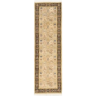 eCarpetGallery Pako Persian Blue/Grey Wool Hand-knotted Rug (2'7 x 8'7)