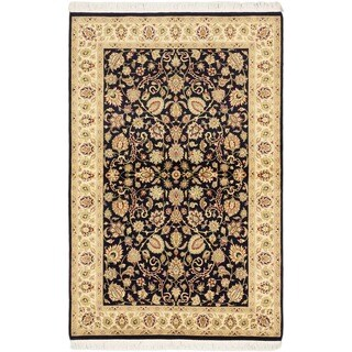 eCarpetGallery Hand-knotted Pako Persian 18/20 Blue/Ivory Wool Rug (4'0 x 6'3)