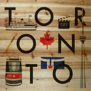Marmont Hill - 'Toronto Square' by Molly Rosner Painting Print on Natural Pine Wood