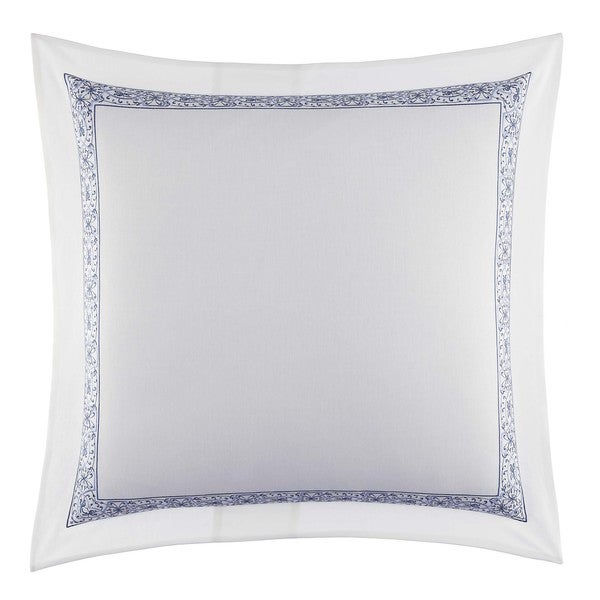Laura Ashley Charlotte White with Blue Frame European Sham