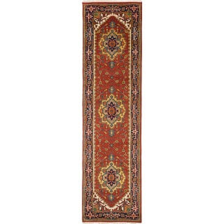eCarpetGallery Hand-knotted Serapi Heritage Brown Wool Rug (2'7 x 10'0)