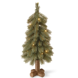 Bayberry 24-inch Blue Cedar Tree with Battery-operated LED Lights