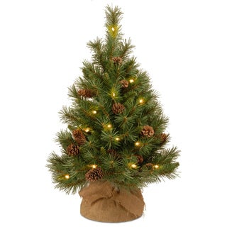 36-inch Pine Cone Tree with Battery-operated Warm White LED Lights