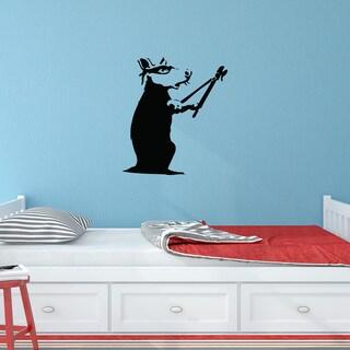 Banksy 'Rat Burglar' Solid-color Vinyl Wall Decal