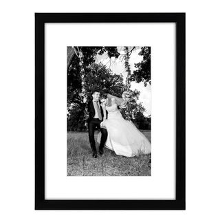 12 x 16-inch Black Frame with Glass Front, and Hanging Hardware, Matted to Fit Pictures 8 x 12-inch or 12 x 16-inch without Mat