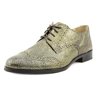 Cole Haan Women's 'Jagger Wingtip Oxford' Gold Leather Dress Shoes