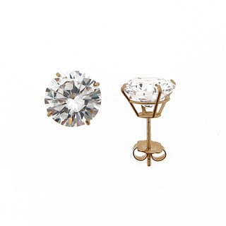 Meredith Leigh 14k Yellow Gold Cubic Zirconia Stud Earrings