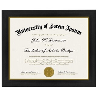 Black 8.5 x 11-inch Document Frame, Made to Display Certificates/ Document/ Standard Paper