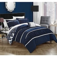 Chic Home 4-Piece Brooks Navy Comforter Set