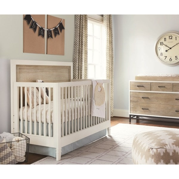 Shop Universal White Wood Convertible Crib Free Shipping