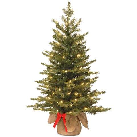 3-Foot Spruce Green LED Battery-operated Christmas Tree - 3 Foot